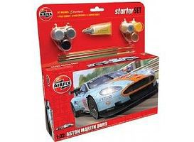 Airfix Aston Martin DBR9 Gulf Race Car Starter Set Plastic Model Car Truck Kit 1/32 Scale #50110