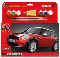 Airfix Mini Cooper 5 Car Starter Set Plastic Model Car Truck Vehicle Kit 1/32 Scale #50125