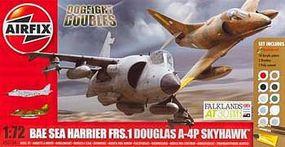 Airfix Dogfight Double A-4/Harrier FRS-1 Plastic Model Airplane Kit 1/72 Scale #50134