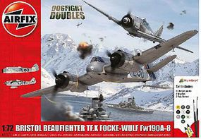 Airfix Bristol Beaufighter Mk X & Focke Wulf Fw190/8 Dogfight Plastic Model Airplane 1/72 #50171
