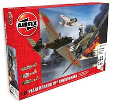 Airfix Pearl Harbor 75th Anniversary Gift Set Plastic Model Airplane Kit 1/72 Scale #50180