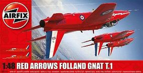 Airfix Red Arrows Gnat Fighter (New Tool) Plastic Model Airplane Kit 1/48 Scale #5124