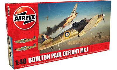 Airfix Boulton Paul Defiant Mk I Fighter (New Tool) -- Plastic Model Airplane Kit -- 1/48 Scale -- #5128