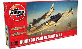 Airfix Boulton Paul Defiant Mk I Fighter (New Tool) Plastic Model Airplane Kit 1/48 Scale #5128