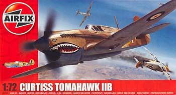 Airfix Tomahawk IIB Fighter -- Plastic Model Airplane Kit -- 1/72 Scale -- #55101