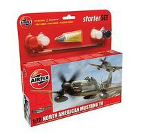 Airfix P51D Mustang Fighter Plastic Model Airplane Kit 1/72 Scale #55107