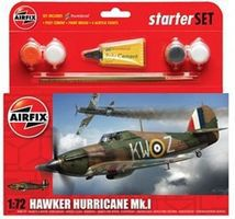 Airfix Hawker Hurricane Mk I Fighter Plastic Model Airplane Kit 1/72 Scale #55111