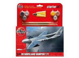 Airfix DH VAMPIRE TII Plastic Model Airplane Kit 1/72 Scale #55204