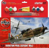 Airfix Boulton Paul Defiant Mk I Aircraft Starter Set Plastic Model Airplane Kit 1/72 Scale #55213