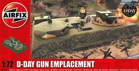 Airfix D-Day Gun Emplacement Plastic Model Military Diorama Kit 1/72 Scale #5701