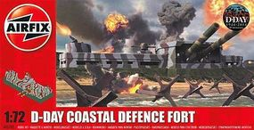 Airfix D-Day Coastal Defense Fort Plastic Model Military Diorama Kit 1/72 Scale #5702