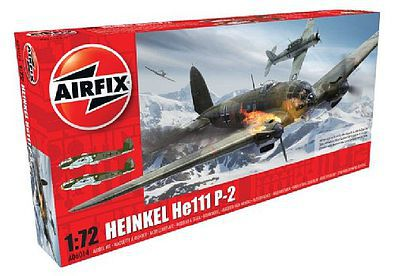 Airfix Heinkel He111P2 Aircraft -- Plastic Model Airplane Kit -- 1/72 Scale -- #6014