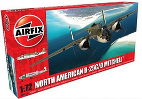 B25C/D Mitchell Bomber Plastic Model Airplane Kit 1/72 Scale #6015
