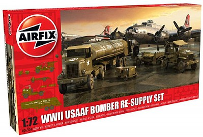 Airfix WWII USAAF 8th Airforce Bomber Resupply Set -- Plastic Model Airplane Kit -- 1/72 Scale -- #6304