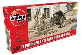 Airfix 17-Pounder Anti-Tank Gun 1/32 Scale Plastic Model Military Vehicle Kit #6361