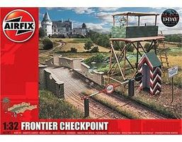 Airfix WWII Frontier Checkpoint Plastic Model Military Diorama 1/32 Scale #6383