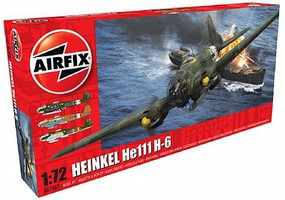 Airfix Heinkel He111 H6 Bomber Plastic Model Airplane Kit 1/72 Scale #7007