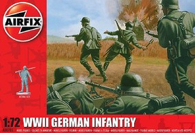 Airfix WWII German Infantry Figure Set Plastic Model Military Figure Kit 1/72 Scale #705