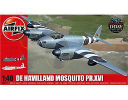 Airfix DeHavilland Mosquito B MK XVI/PR XVI Aircraft (Re-Issue) Plastic Model Airplane 1/48 #7112