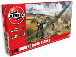 Airfix Junkers Ju87B1 Attack Bomber Plastic Model Airplane Kit 1/48 Scale #7114
