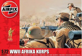 Airfix WWII Afrika Corps Figure Set (Re-Issue) Plastic Model Military Figure Kit 1/72 Scale #711