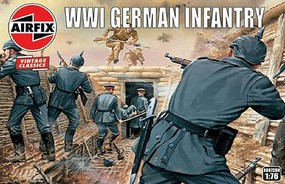 Airfix WWI German Infantry Figure Set (Re-Issue) Plastic Model Military Figure Kit 1/72 Scale #726