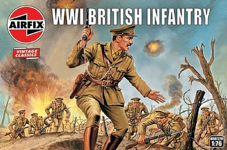 Airfix WWI British Infantry Figure Set Plastic Model Military Figure Kit 1/72 Scale #727