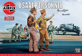 Airfix WWII USAAF Personnel Figure Set (Re-Issue) Plastic Model Military Figure Kit 1/72 #748