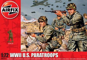 Airfix WWII US Paratroops Figure Set (Re-Issue) Plastic Model Military Figure Kit 1/72 Scale #751
