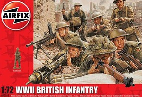 Airfix WWII British Infantry Figure Set Plastic Model Military Figure Kit 1/72 Scale #763