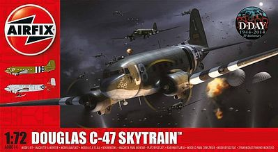 Airfix Douglas C47A/D Skytrain Military Transport -- Plastic Model Airplane Kit -- 1/72 Scale -- #8014