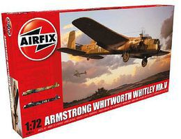Airfix Armstrong Whitworth Whitley Mk V RAF Bomber Plastic Model Airplane Kit 1/72 Scale #8016