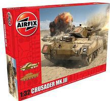 Airfix Crusader Mk III Tank 1/32 Scale Plastic Model Military Vehicle Kit #8360