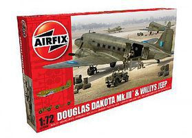 Airfix Douglas Dakota Mk III Military Transport Aircraft Plastic Model Airplane Kit 1/72 #9008