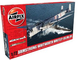 Airfix Armstrong Whitworth Whitley Mk VII Heavy Bomber Plastic Model Airplane Kit 1/72 Scale #9009