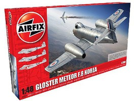 Airfix Gloster Meteor F8 Korean War Fighter Plastic Model Airplane Kit 1/48 Scale #9184