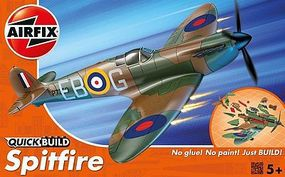 Airfix Spitfire Fighter Quick Build Snap Tite Plastic Model Aircraft Kit #j6000