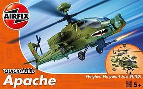 Airfix Apache Helicopter Quick Build Snap Tite Plastic ModelHelicopter Kit #j6004