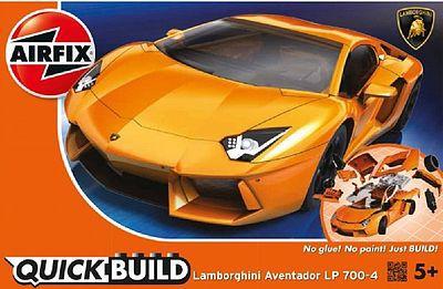 Airfix Lamborghini Aventador Car Quick Build Kit Snap Tite Plastic