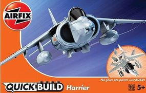 Airfix BAe Harrier Aircraft Quick Build Kit Snap Tite Plastic Model Aircraft #j6009