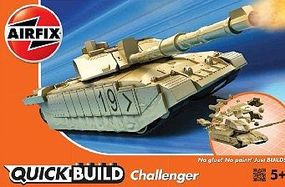 Airfix Challenger Tank (Snap) Quick Build Kit Plastic Model Military Vehicle #j6010
