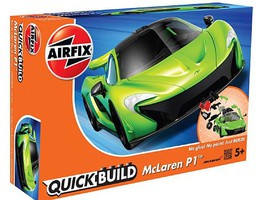 Airfix Quick Build McLaren P1 Car (Snap) Snap Tite Plastic Model Vehicle #j6021