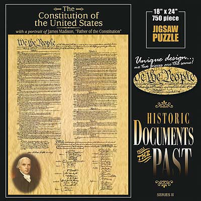 Americana Puzzles The Constitution -- Jigsaw Puzzle 600-1000 Piece -- #70131
