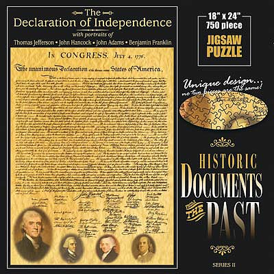 Americana Puzzles Declaration Of Independence -- Jigsaw Puzzle 600-1000 Piece -- #70132