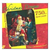 Americana Christmas- Santa with Little Girl One Christmas Eve Jigsaw Puzzle 600-1000 Piece #70138