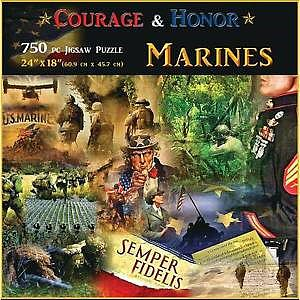 Americana Puzzles Marines -- Jigsaw Puzzle 600-1000 Piece -- #70318