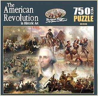 Americana Puzzles Historic Collage- American Revolution -- Jigsaw Puzzle 600-1000 Piece -- #76031