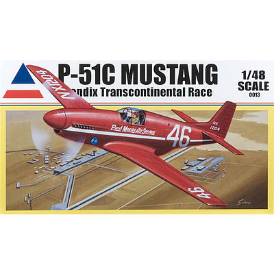 Accurate Miniatures P-51C BENDIX TRANS RACER -- Plastic Model Airplane Kit -- 1/48 Scale -- #0013