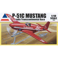 Accurate P-51C BENDIX TRANS RACER Plastic Model Airplane Kit 1/48 Scale #0013