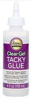 Aleenes Clear Gel Tacky Glue 4oz. Bottle